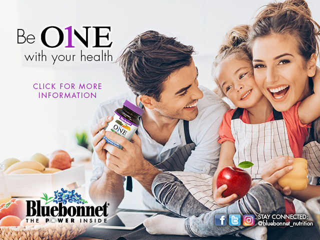 Ad - Bluebonnet Be ONE with your health.