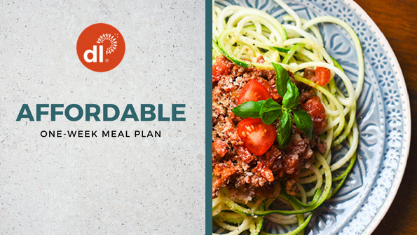 Healthy and affordable meal plan