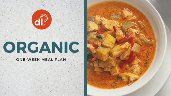 One-week organic meal plan