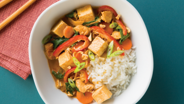 Thai Coconut Curry Chicken and Tofu