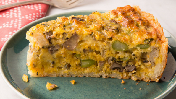 Rice-Crusted Egg and Veggie Pie