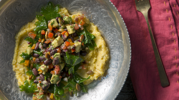 Green Chile Cheese Polenta Bowls